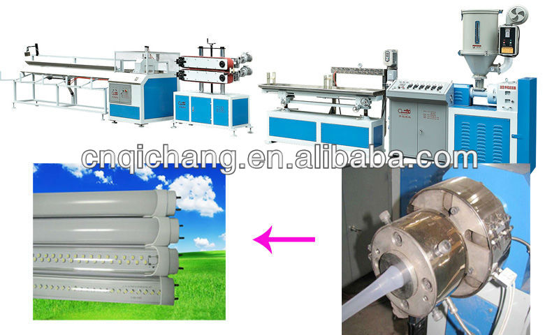 round tube Energy-saving lamp extruder manufacturer