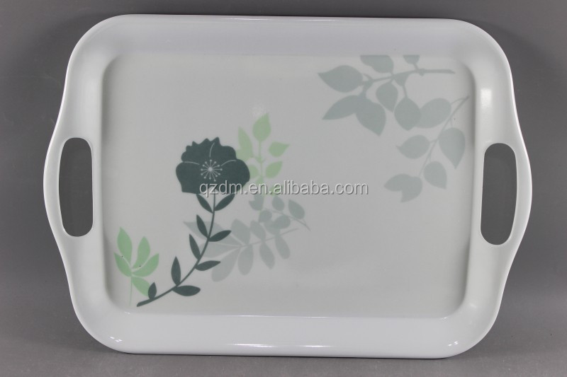 14 inch melamine tray with handle Melamine serving tray