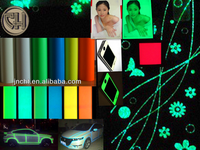photoluminescent film / glow in the dark film with Self-adhesive / luminescent film