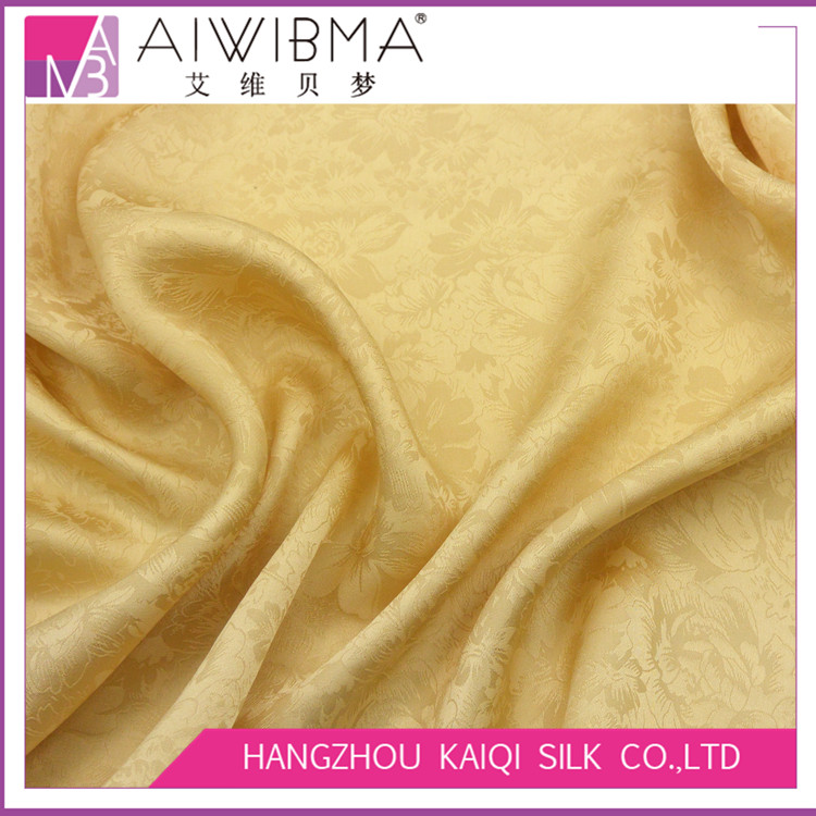 Hangzhou silk jacquard satin/charmeuse/silk brocade fabric with floral pattern for high-end dresses,blouse,shirt,scarf,tie,etc