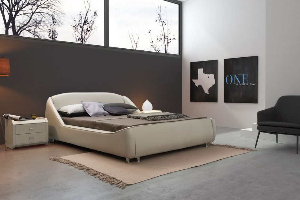 hot sale high quality soft leather bed modern design