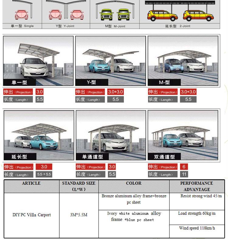 Aluminum Motorcycle Shelter : Aluminum carport canopy plastic motorcycle garage shelter