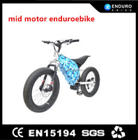 24inch 48V 1000W mid motor electric dirt bicycle/bike for sale