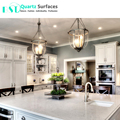 White Carrera Quartz Stone Slab for Kitchen Island Top and Counter Top