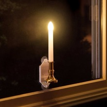 Solar LED flameless window candle light with suction cup for Christmas holiday lighting