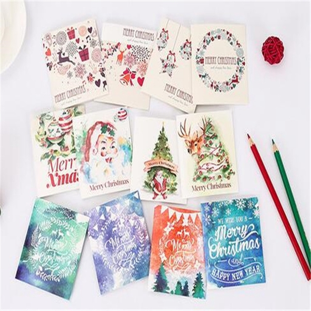 Merry Christma Letter Paper Greeting Card Envelope Writing Paper Card Christmas