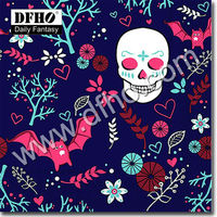 Skull Printed Paper Napkin For Halloween 33X33 China Paper Towel Handkerchief Wholesale