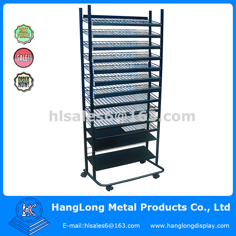 Metal multilayer display cabinet for storage
