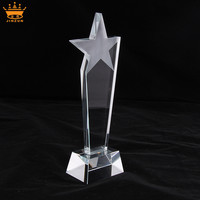 China manufacturer direct wholesale cheap high quality custom trophy and medals awards blank star trophy crystal