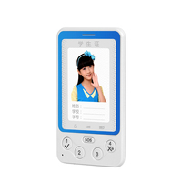 2015 new arrival credit card size GPS position 2.4G FRID for school sign very slim feature phone for kids