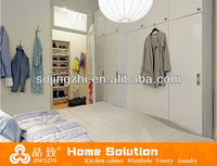 Customized hot sale changing room chinese clothes melamine wardrobe cabinet designs/bedroom furniture/closet JZ-004WC