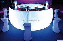 Illuminated LED <strong>bar</strong> table,led round outdoor table/<strong>bar</strong> &cafe led furniture