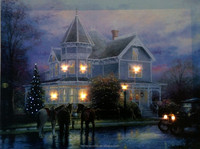 Wholesale canvas wall art,holiday led lighted pictures with fiber optic lights ,stretched and framed art work for any room