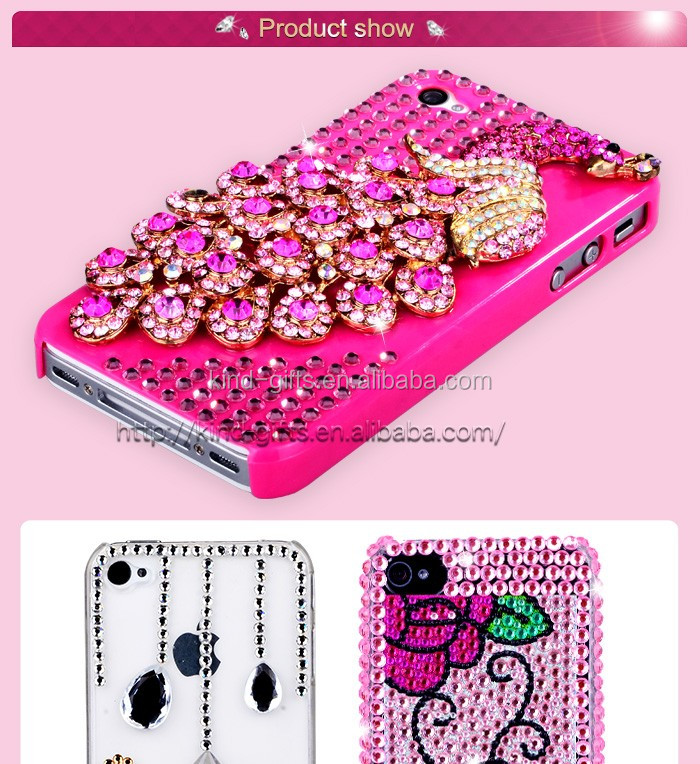 bling bling rhinestone cell phone case