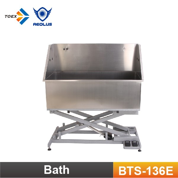 BTS-136E Stainless Steel Dog Bathtub Pet Tub with Electric Lifting Base