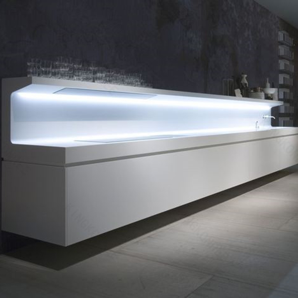 luxury fabrication artificial stone counter, Reception hotel Desk