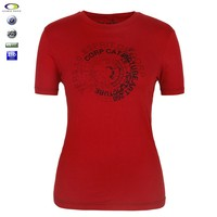 High quality ladies fancy fit 200 grams different types of cotton t shirt