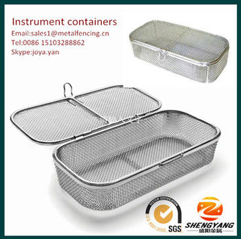 Wholesale mini size wire container with lock sterile containers for surgical tools cover available instrument containers
