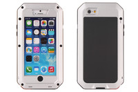 Luxury design protective Three anti Waterproof Shockproof Metal Aluminum for iphone 5 5s waterproof case