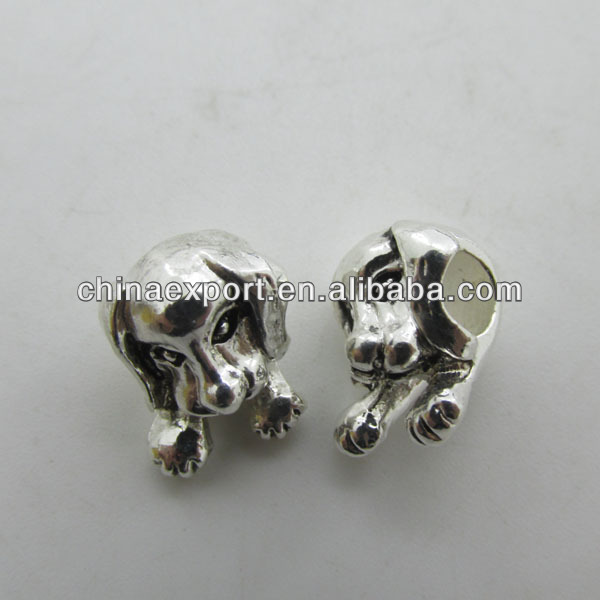 925 Silver Alloy Dog Beads for Jewelry Making Beads Wholesale
