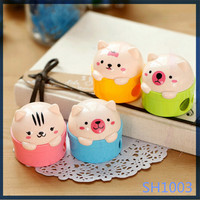 Korean creative cute animal shaped promotional items high quality stationery products factory plastic pencil sharpener