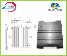 grooved rubber vibration isolator pad for railway