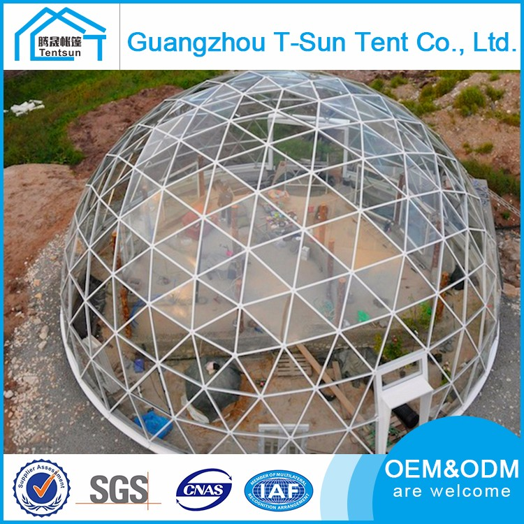 Aluminium Alloy Steel Frame Offers Round Circus Tent Geodesic Dome Tent