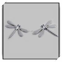 dragonfly shape car chrome badge emblem/permanent car sticker/unique car badges auto emblems