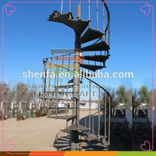 Shenfa Handicraft Cast iron metal used spiral staircase price