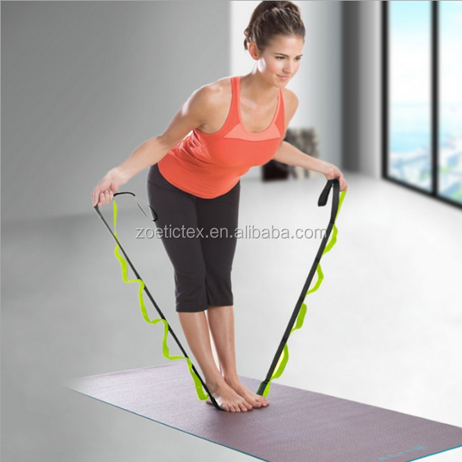 Wholesale fitness light weight nylon yoga resistance bands