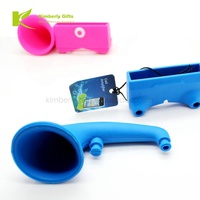2019 new style portable audio silicone phone mini amplifier/silicone speaker