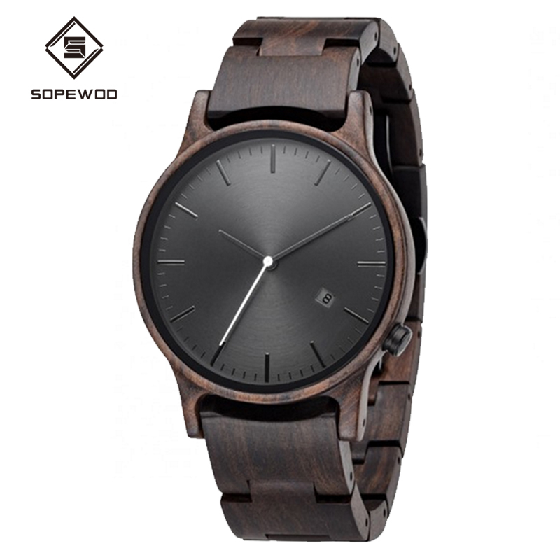 2018Trade China Men's Bamboo <strong>Wooden</strong> Watch Analog Handmade Casual Watches with Unique Designed Natural Round Bamboo Gift Box
