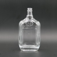 Wholesale Glass Whiskey Bottle 500ml Clear Tequila Decanter