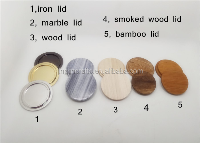 candle lid wood/marble/ceramic/iron/tin lid for candle holder/jar/tumbler