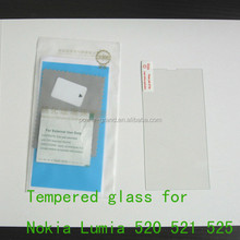 Premium 9H 2.5D Tempered Glass screen protector guard film for Nokia Lumia 520 521 525