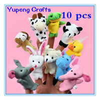 Mini Cute Cartoon Biological Animal Finger Puppet Plush Toys