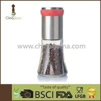 Condiment best grip spice mill with 200ml jar