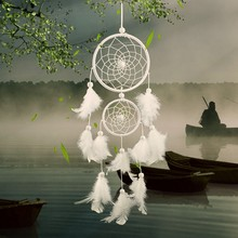 Queena Wholesale Handmade Indian Style Feather Decoration Dream Catcher