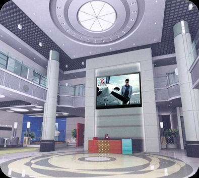 indoor led tv wall unit for chain hotels advertising