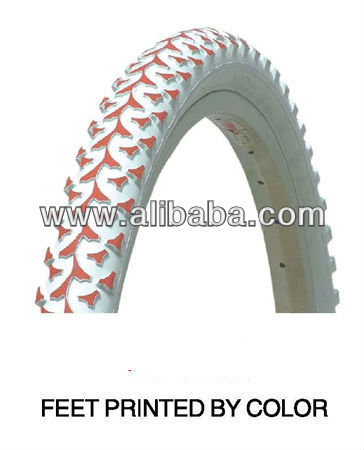 High quality colorful/decorated/art bicycle/bike tyre/tire
