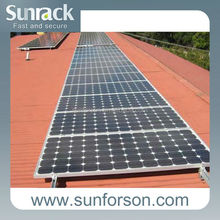 Natural color sun power pitched roof mounting system