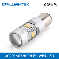 Non-polarity Auto Led Lighting Bulb 1157 Led Lamp Car Yellow