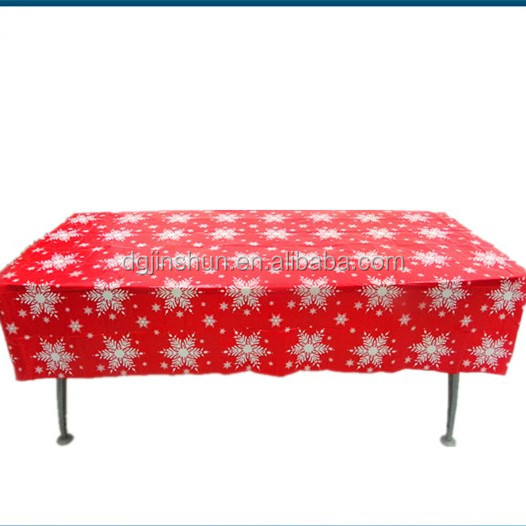Hot sale disposable polyethylene christmas tablecloth
