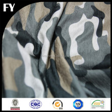 Factory custom high quality digital printing camouflage silk fabric