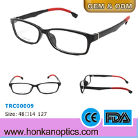 Double color Metal hinge TR90 optical frames for kids without nose pad