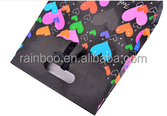 Hot selling OEM customized cheap advertisement recycled colorful paper shopping bag for promotional gift