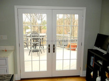 simple style white steel french doors exterior SD-016
