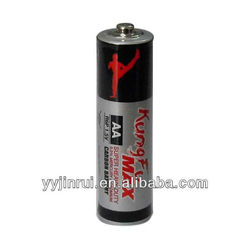 china manufacturer 1.5v LR6/R6 aa size dry battery