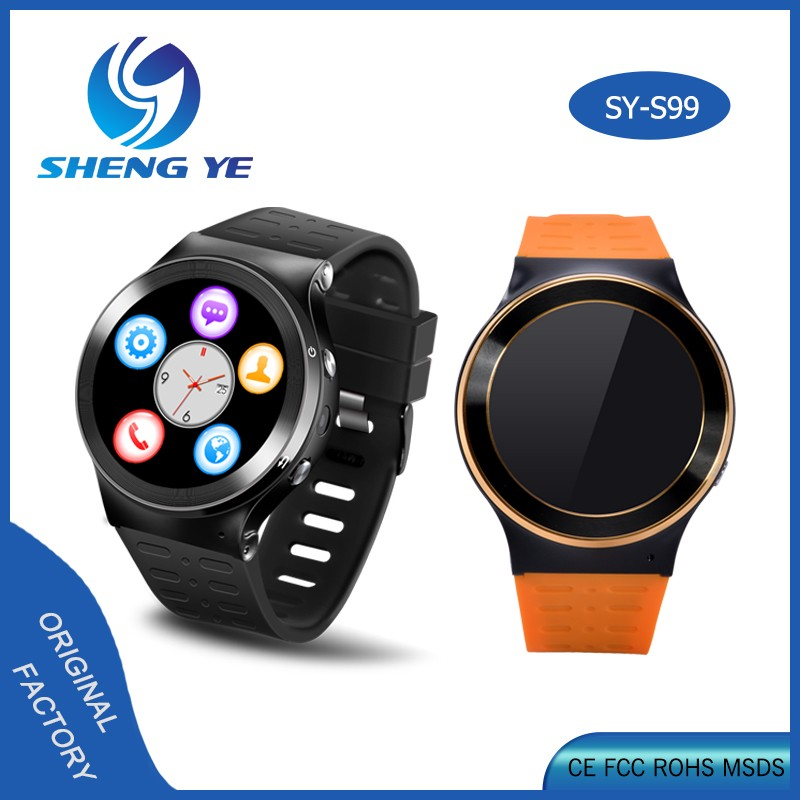 S99 <strong>GSM</strong> 3G Quad Core Android 5.1 wifi smart watch With 5.0MP Camera GPS WiFi Bluetooth 4.0 Pedometer Smartwatch PK GT08 DZ09 U8