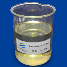 flocculant polyamine mix with inorganic surfactant for drinking water